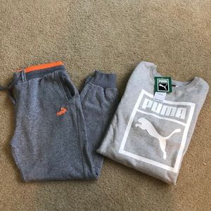 Boy's Puma Joggers and NWT Sweatshirt L 14/16